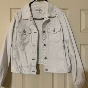Gently used white Jean jacket